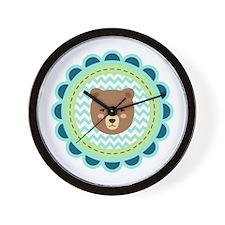 Baby Bear Patch Wall Clock