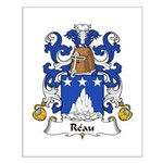 Reau Family Crest Small Poster