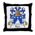 Reau Family Crest Throw Pillow