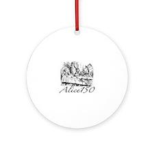 Alice Wonderland Children's Books Ornament (Round)