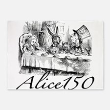 Alice Wonderland Children's Books S 5'x7'Area Rug