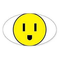 Power Outlet AC/DC Smiley electric plug Fa Decal