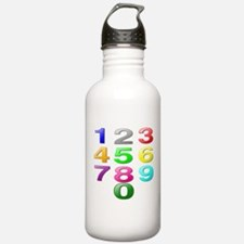 Colored Numbers Water Bottle