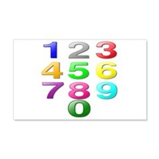Colored Numbers Wall Decal