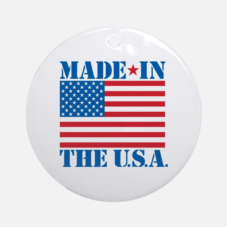 Made in the USA Round Ornament