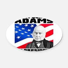 06 JQ Adams Oval Car Magnet