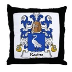 Racine Family Crest Throw Pillow