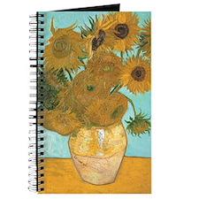 Van Gogh Vase with Sunflowers Journal
