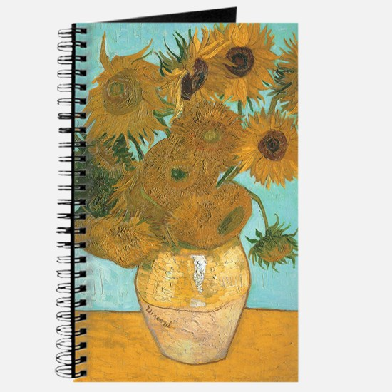 Van Gogh Vase with Sunflowers Journal