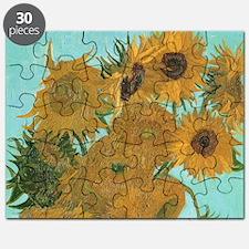 Van Gogh Vase with Sunflowers Puzzle