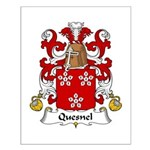 Quesnel Family Crest  Small Poster