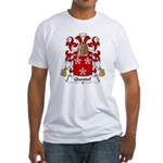 Quesnel Family Crest  Fitted T-Shirt