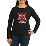 Quesnel Family Crest  Women's Long Sleeve Dark T-S