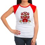 Quesnel Family Crest  Women's Cap Sleeve T-Shirt