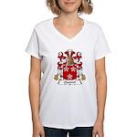 Quesnel Family Crest  Women's V-Neck T-Shirt
