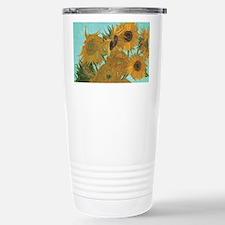 Van Gogh Vase with Sunf Travel Mug