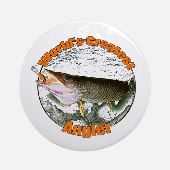 World's greatest angler Ornament (Round)