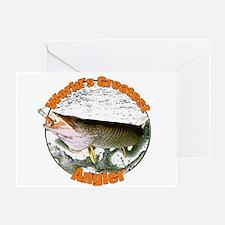 World's greatest angler Greeting Card
