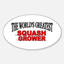 """""""The World's Greatest Squash Grower"""" Decal"""