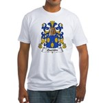 Quentin Family Crest  Fitted T-Shirt