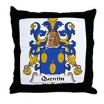 Quentin Family Crest  Throw Pillow