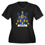 Quentin Family Crest  Women's Plus Size V-Neck Dar