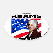 02 Adams Oval Car Magnet