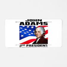 02 Adams Aluminum License Plate