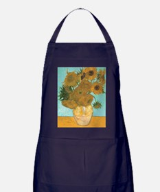 Van Gogh Vase with Sunflowers Apron (dark)