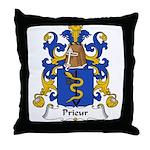 Prieur Family Crest Throw Pillow