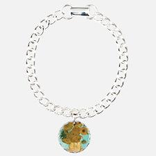 Van Gogh Vase with Sunfl Charm Bracelet, One Charm