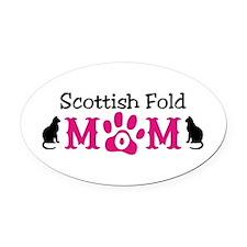 Scottish Fold Mom Oval Car Magnet