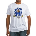 Pouget Family Crest  Fitted T-Shirt