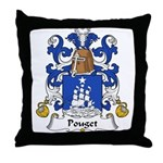 Pouget Family Crest  Throw Pillow