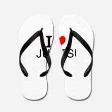 I Love Jujitsu Flip Flops