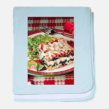 Lasagna Dinner baby blanket