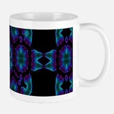 Violet Blue Crystal Mandala Mugs