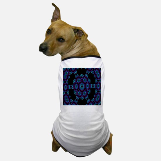 Violet Blue Crystal Mandala Dog T-Shirt