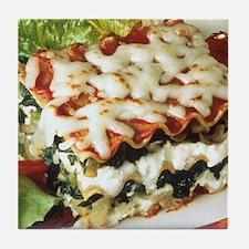 Lasagna Dinner Tile Coaster