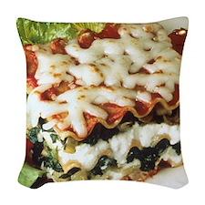 Lasagna Dinner Woven Throw Pillow