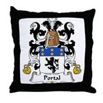 Portal Family Crest Throw Pillow