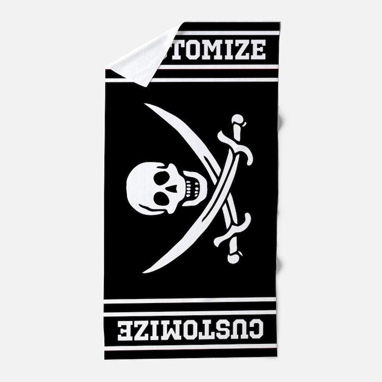 Customized Pirate Flag Beach Towel