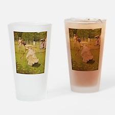 tennis in art Drinking Glass