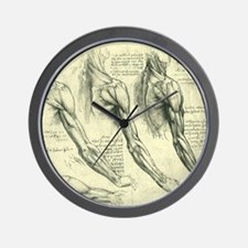 Male Anatomy by Leonardo da Vinci Wall Clock
