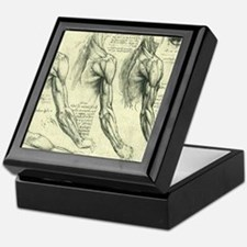 Male Anatomy by Leonardo da Vinci Keepsake Box