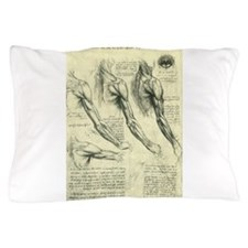 Male Anatomy by Leonardo da Vinci Pillow Case