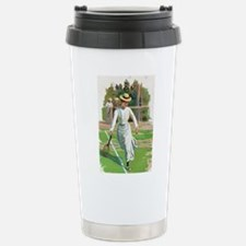 tennis in art Travel Mug