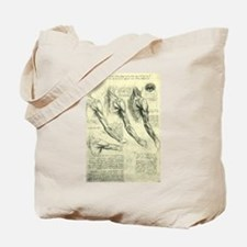 Male Anatomy by Leonardo da Vinci Tote Bag