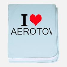 I Love Aerotow baby blanket