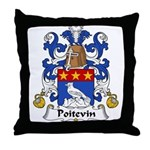 Poitevin Family Crest Throw Pillow